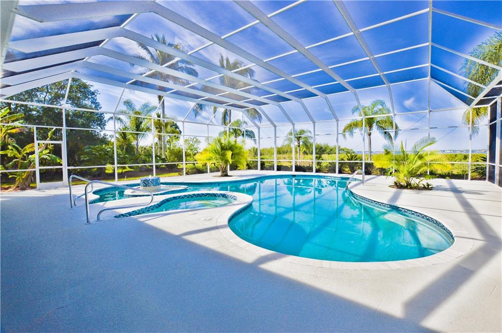 large pool area overlooking the Myakka River - Single Family Home for sale at 3121 Rivershore Ln, Port Charlotte, FL 33953 - MLS Number is D5917816