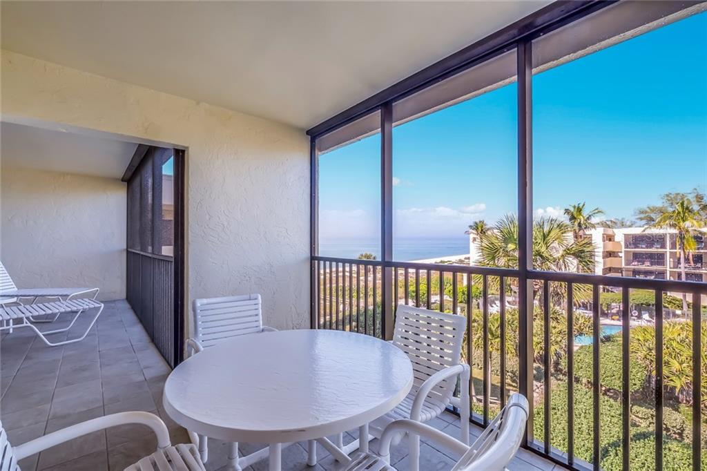 Large screened lanai with Gulf & pool views - Condo for sale at 5700 Gulf Shores Dr #a-321, Boca Grande, FL 33921 - MLS Number is D5921925