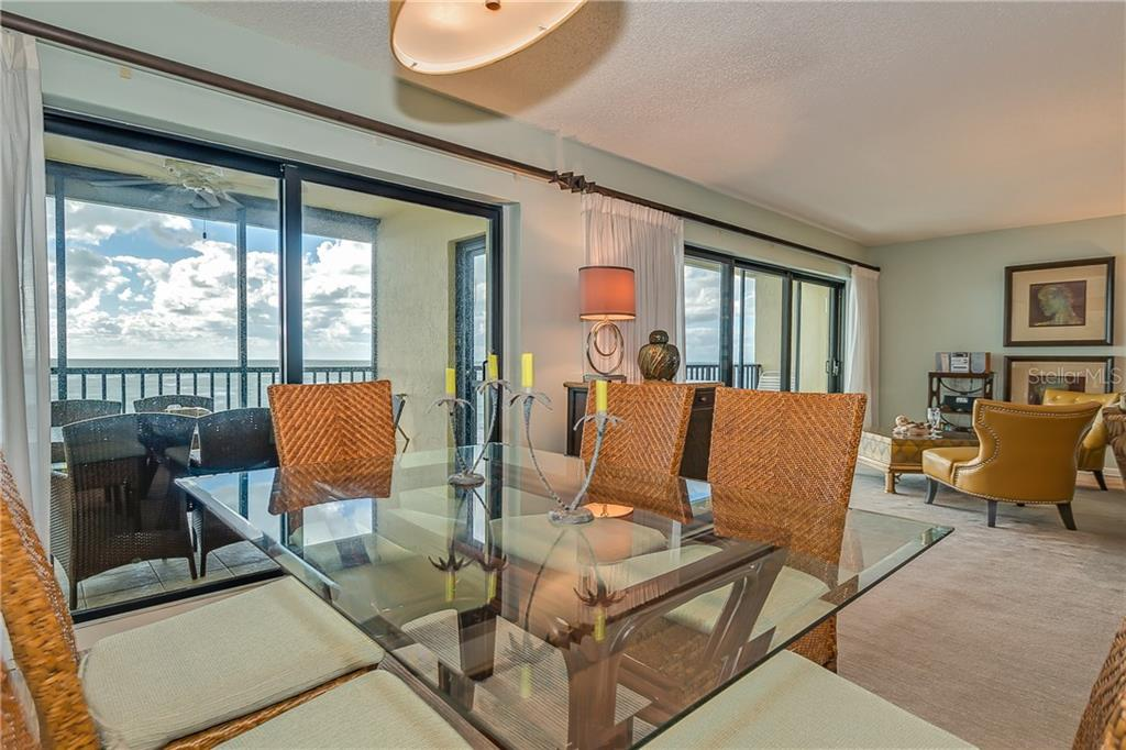 DINING AND LIVING AREA OVERLOOKING THE GULF OF MEXICO - Condo for sale at 5700 Gulf Shores Dr #a-317, Boca Grande, FL 33921 - MLS Number is D5922412
