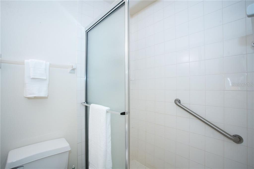 Large, walk-in shower in the guest bathroom. - Condo for sale at 6800 Placida Rd #271, Englewood, FL 34224 - MLS Number is D6106459