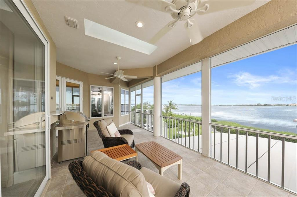 Water Views from Lanai - Single Family Home for sale at 1636 New Point Comfort Rd, Englewood, FL 34223 - MLS Number is D6108467