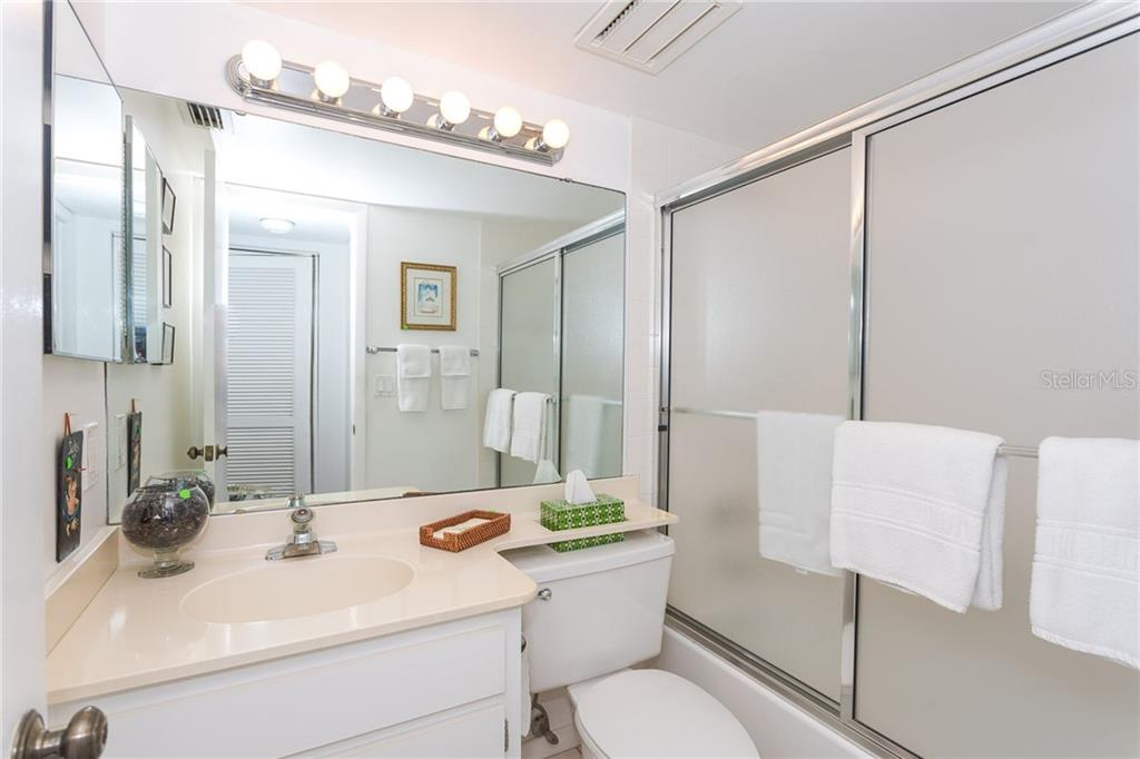 Guest bathroom - Condo for sale at 1551 Beach Rd #412, Englewood, FL 34223 - MLS Number is D6110828