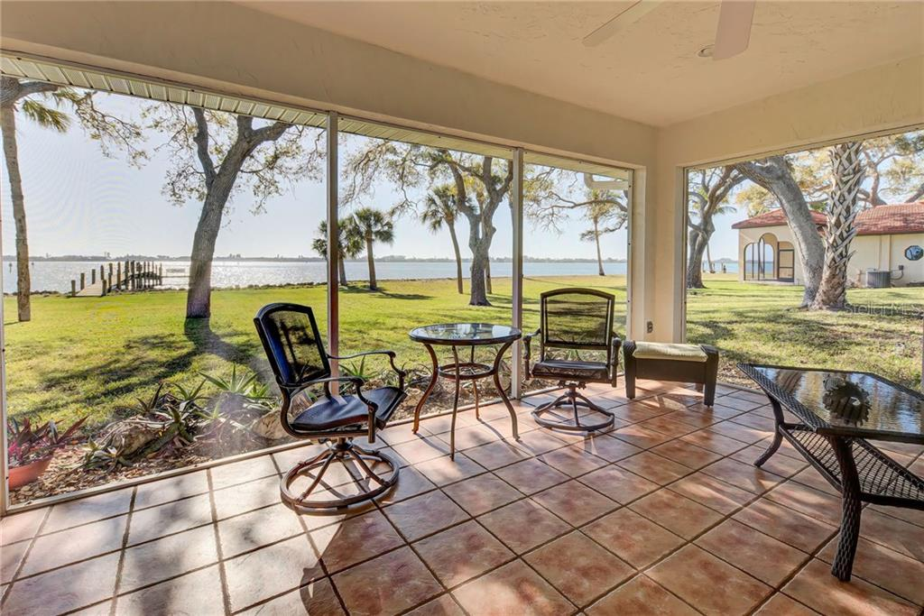 This is your lanai and the same view from your master bedroom. Wow, to wake up to this! - Single Family Home for sale at 918 Edgewater Dr, Englewood, FL 34223 - MLS Number is D6111167