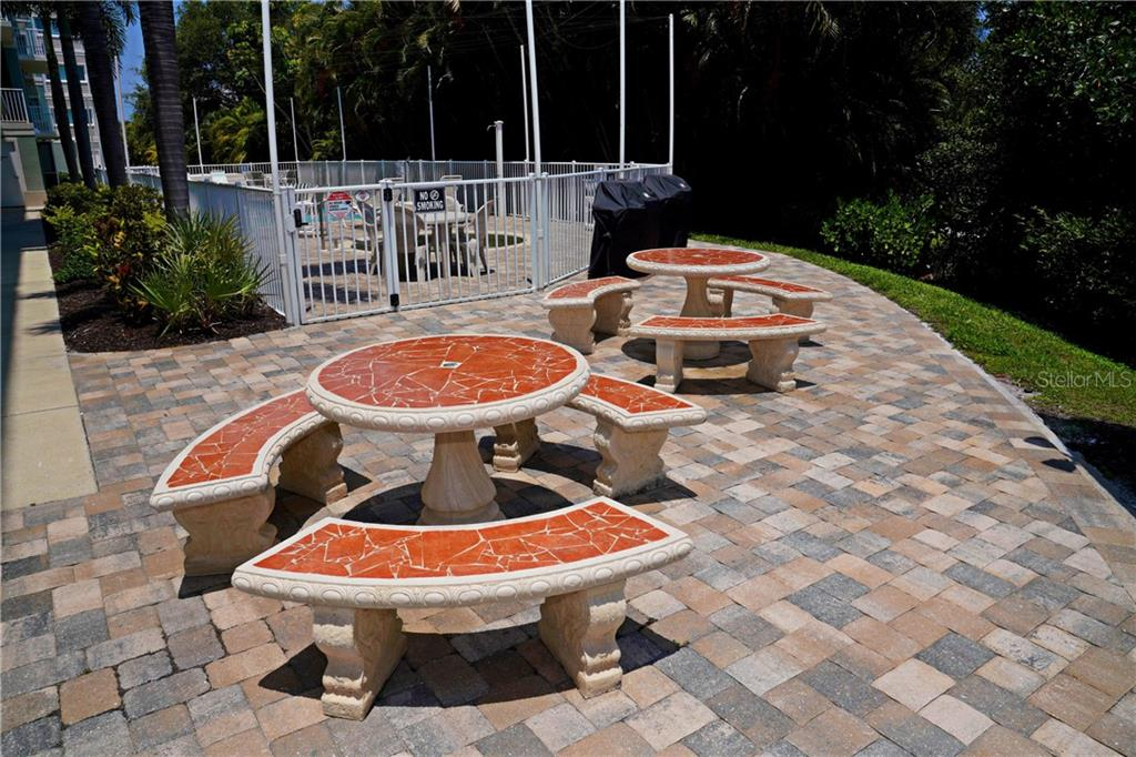 More tables on patio area - Condo for sale at 2245 N Beach Rd #304, Englewood, FL 34223 - MLS Number is D6112346