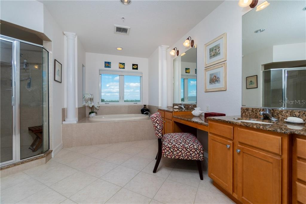 Ensuite Master Bath - Condo for sale at 2225 N Beach Rd #401, Englewood, FL 34223 - MLS Number is D6114646