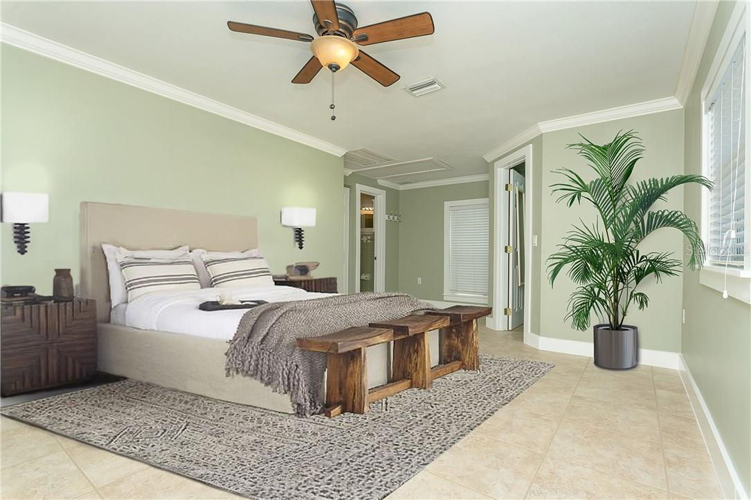 2nd Oversized Bedroom for your Guests - This is truly a second master and has it's own full bath and walk in closet - Single Family Home for sale at 1661 New Point Comfort Rd, Englewood, FL 34223 - MLS Number is D6117712
