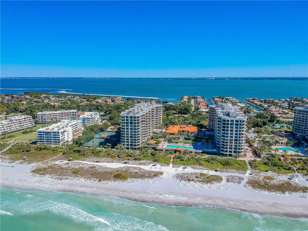 ARIAL VIEW - Condo for sale at 1281 Gulf Of Mexico Dr #304, Longboat Key, FL 34228 - MLS Number is T3121789