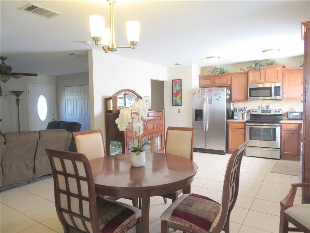 Dining toward Kitchen - Single Family Home for sale at 4275 Tollefson Ave, North Port, FL 34287 - MLS Number is C7416188