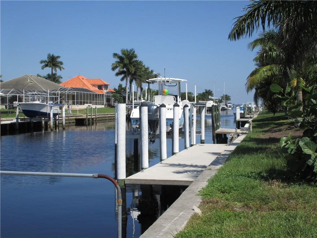 Looking down Blue Fish Lagoon to harbor - Vacant Land for sale at 53 Tropicana Dr, Punta Gorda, FL 33950 - MLS Number is C7420346