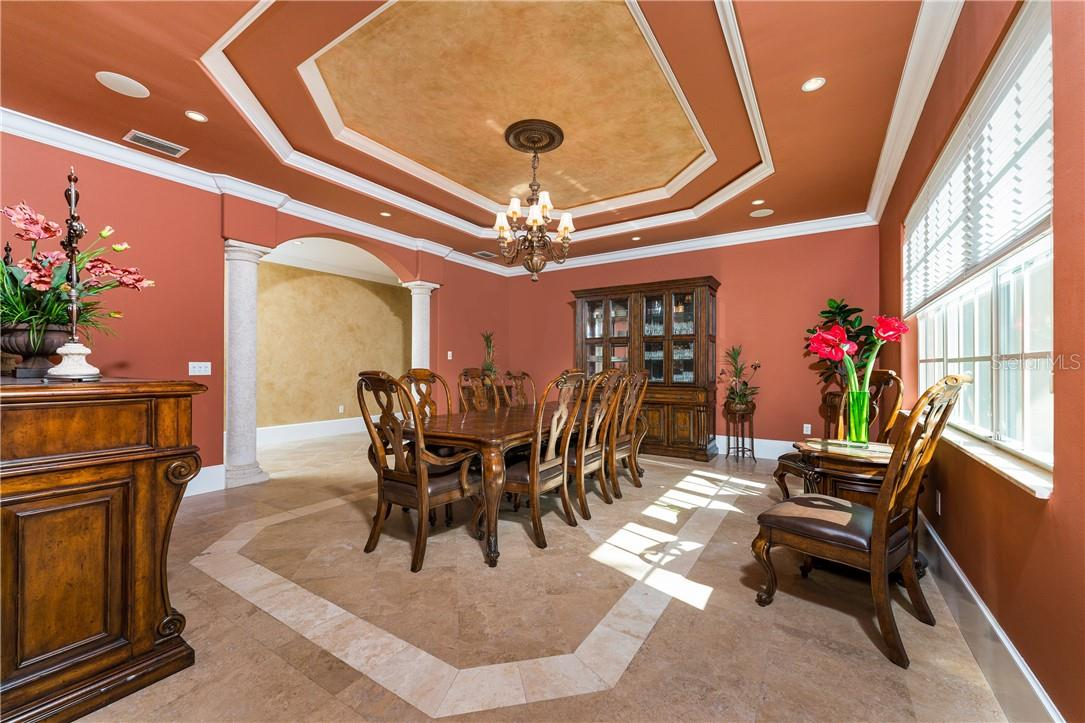 A beautiful, formal dining room for elegant dinners, classy social gatherings and meals - Single Family Home for sale at 7440 Riverside Dr, Punta Gorda, FL 33982 - MLS Number is C7436263