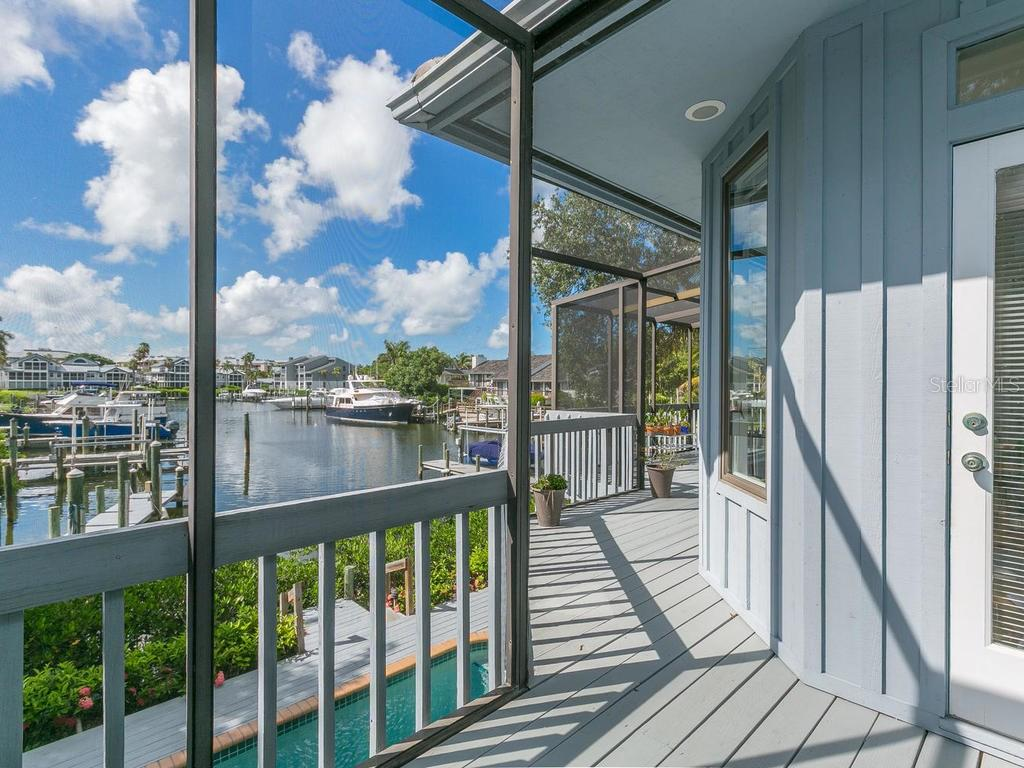 Balcony with water views - Single Family Home for sale at 1272 Riegels Landing Dr, Sarasota, FL 34242 - MLS Number is A4160033