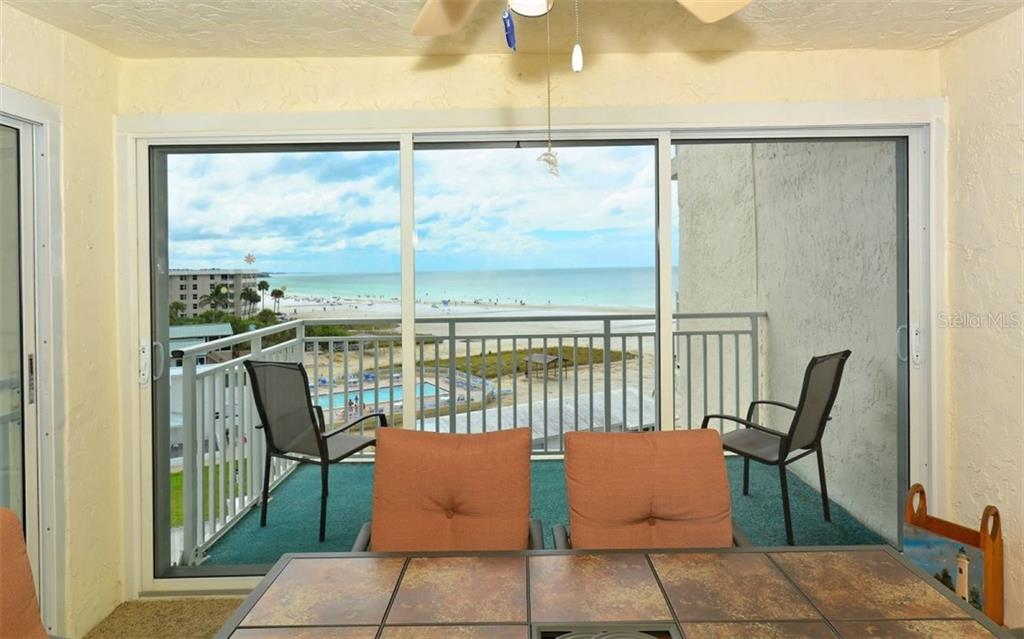 View from balcony - Condo for sale at 5830 Midnight Pass Rd #504, Sarasota, FL 34242 - MLS Number is A4166623