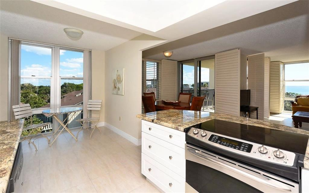 New Kitchen with eat-in area and southern views - Condo for sale at 1701 Gulf Of Mexico Dr #505, Longboat Key, FL 34228 - MLS Number is A4170632