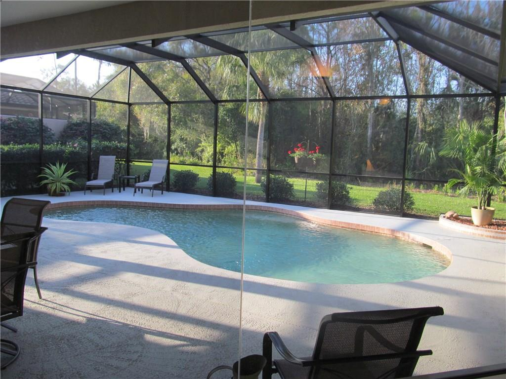 VEIW FROM THE DINING AREA OFF KITCHEN INTO YOUR PRIVATE POOL AREA. - Single Family Home for sale at 7007 Chickasaw Bayou Rd, Bradenton, FL 34203 - MLS Number is A4177136