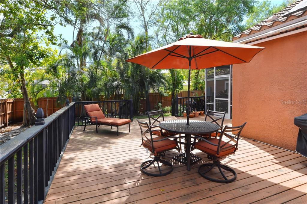 Back Patio with Retractable Awning - Single Family Home for sale at 1896 Hibiscus St, Sarasota, FL 34239 - MLS Number is A4180775