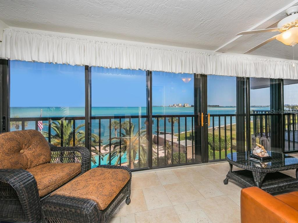 Balcony with view of Big Pass and Lido Key - Condo for sale at 4708 Ocean Blvd #e8, Sarasota, FL 34242 - MLS Number is A4184028