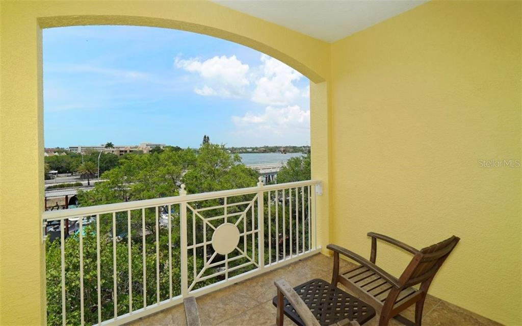 Open balcony with water views - Condo for sale at 1310 Old Stickney Point Rd #e53, Sarasota, FL 34242 - MLS Number is A4186018