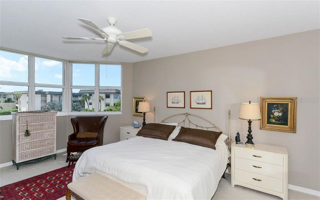 Master bedroom with a view - Condo for sale at 1800 Benjamin Franklin Dr #a202, Sarasota, FL 34236 - MLS Number is A4187131
