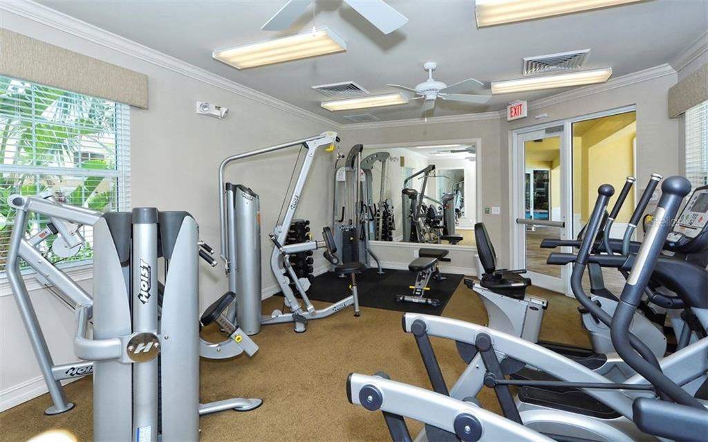 Community fitness center - Condo for sale at 81 Navigation Cir #103, Osprey, FL 34229 - MLS Number is A4188370