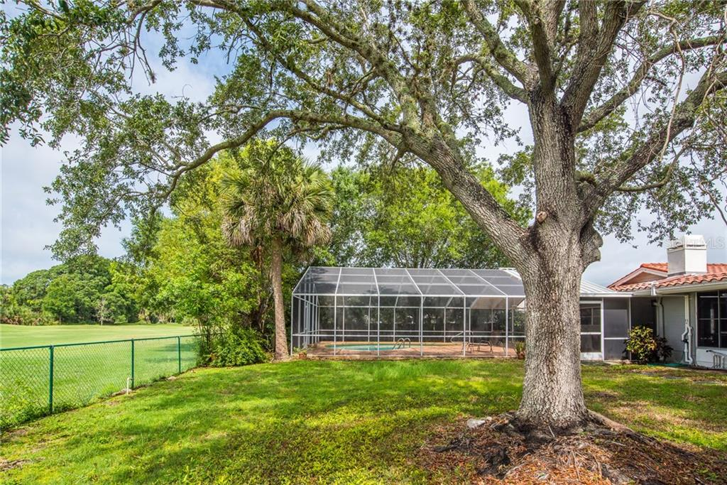 Back yard - Single Family Home for sale at 3448 Pine Valley Dr, Sarasota, FL 34239 - MLS Number is A4188545