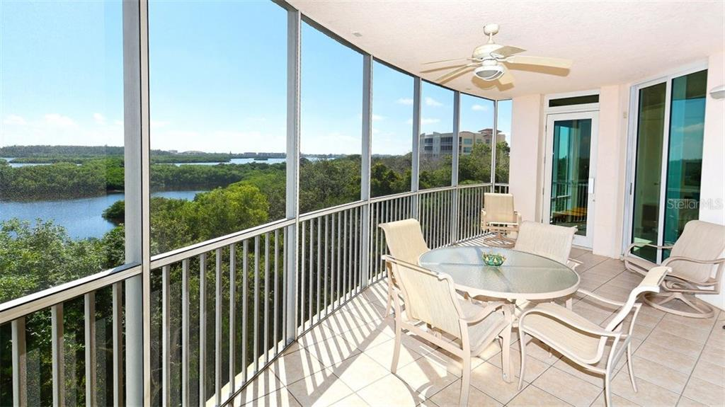 Balcony with spectacular views - Condo for sale at 409 N Point Rd #601, Osprey, FL 34229 - MLS Number is A4189564