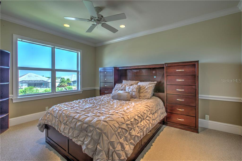 Bedroom #4..This a second floor bedroom overlooking the water. - Single Family Home for sale at 548 Fore Dr, Bradenton, FL 34208 - MLS Number is A4196590
