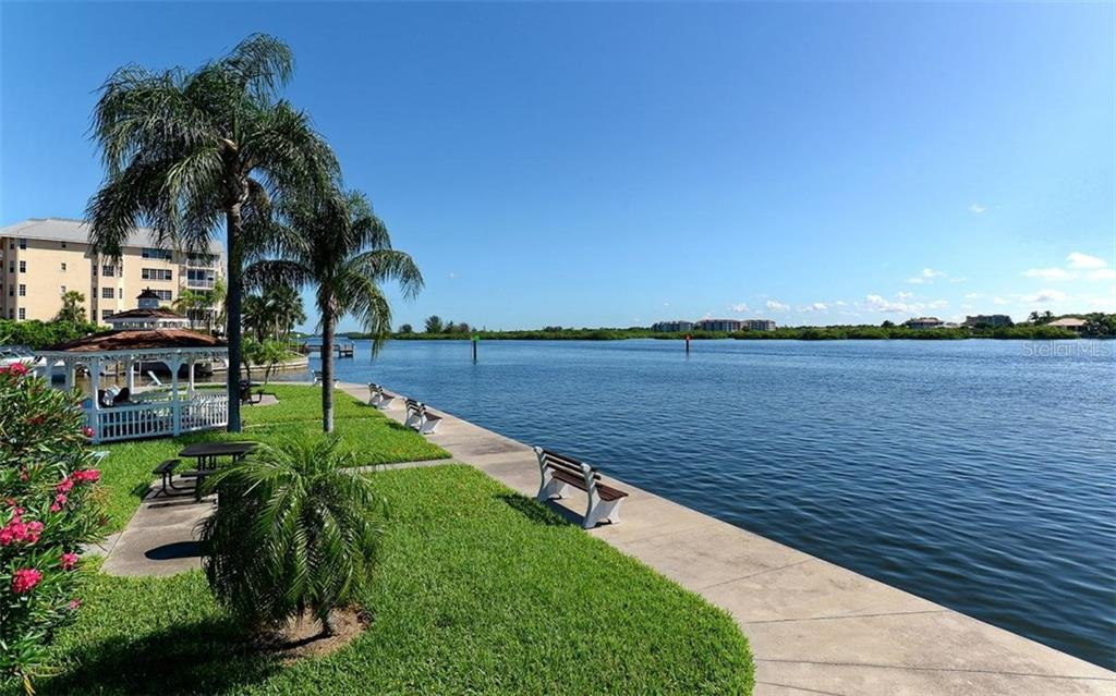 Gazebo and bay front walkways - Condo for sale at 5855 Midnight Pass Rd #328, Sarasota, FL 34242 - MLS Number is A4200358