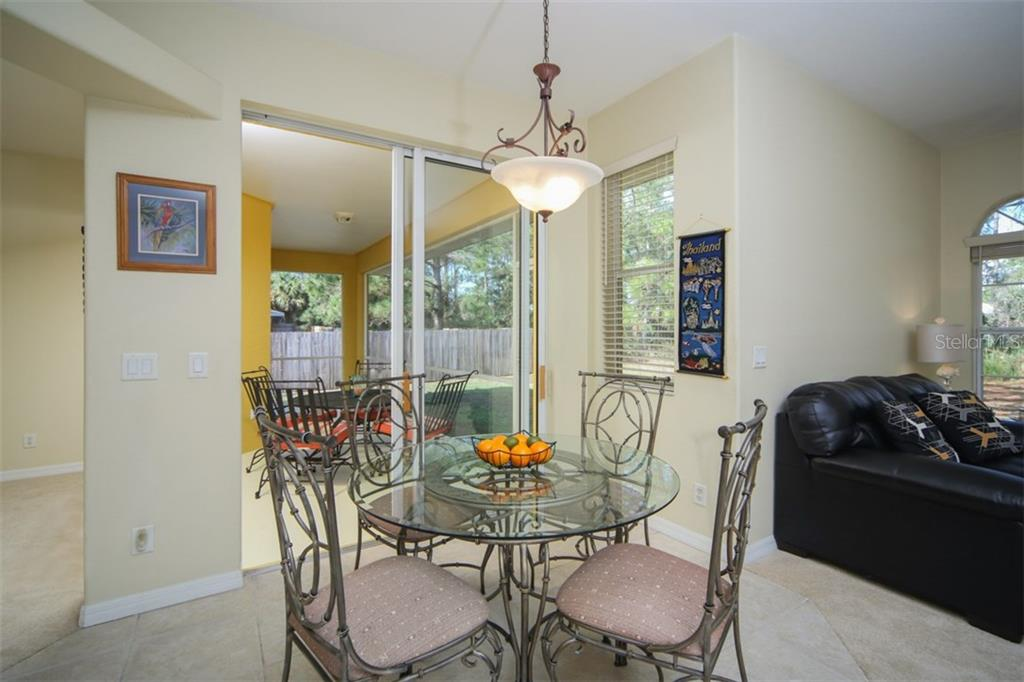 Casual dining area - Single Family Home for sale at 1876 Bushnell Ave, North Port, FL 34286 - MLS Number is A4207073