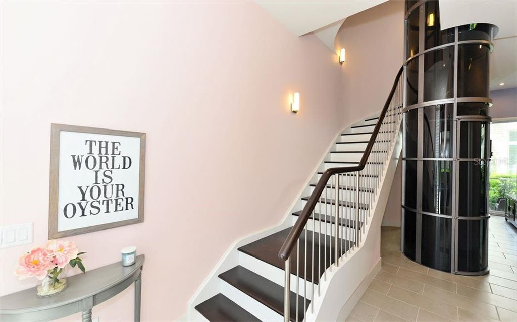 Stairs and Private elevator - Townhouse for sale at 234 Cosmopolitan Ct, Sarasota, FL 34236 - MLS Number is A4207722