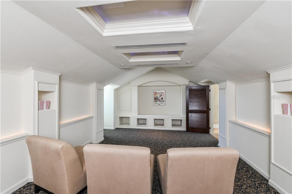 2 Tier Media room on the 3rd level - Single Family Home for sale at 506 Venice Ln, Sarasota, FL 34242 - MLS Number is A4402493