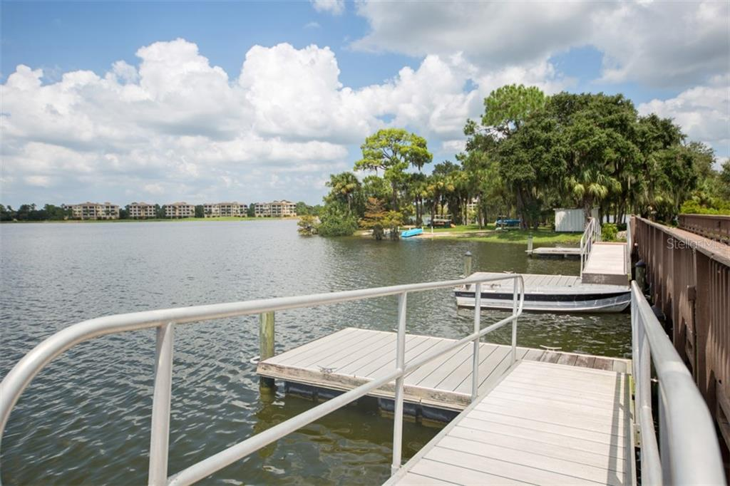 Floating dock for non-power boats.  Can keep small boat or canoe on the shore.  $25 annual fee for boat storage as available. - Condo for sale at 6540 Moorings Point Cir #202, Lakewood Ranch, FL 34202 - MLS Number is A4403403