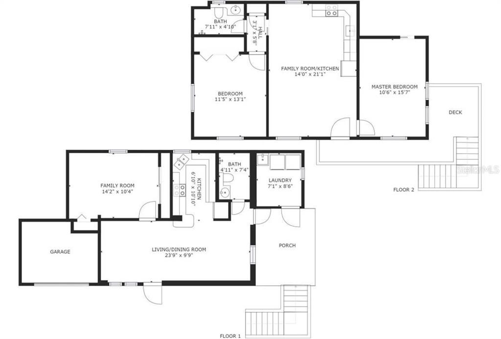 Guest House Floor Plan. Available as PDF. - Single Family Home for sale at 1778 Bayshore Dr, Englewood, FL 34223 - MLS Number is A4405962