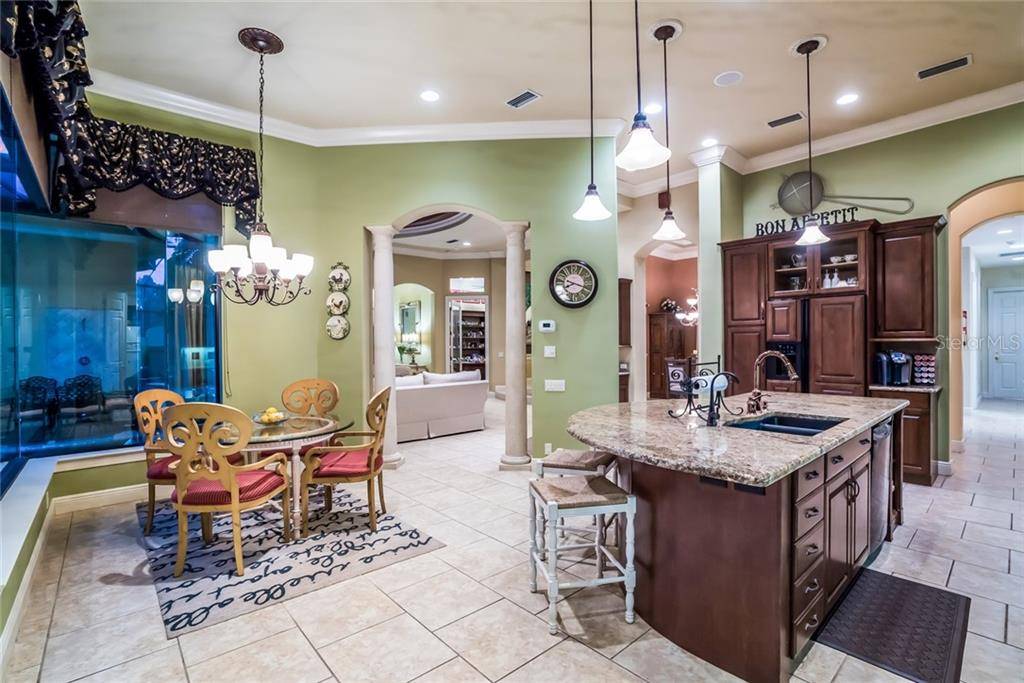 Breakfast Dining in Kitchen - Single Family Home for sale at 7570 Preservation Dr, Sarasota, FL 34241 - MLS Number is A4409986