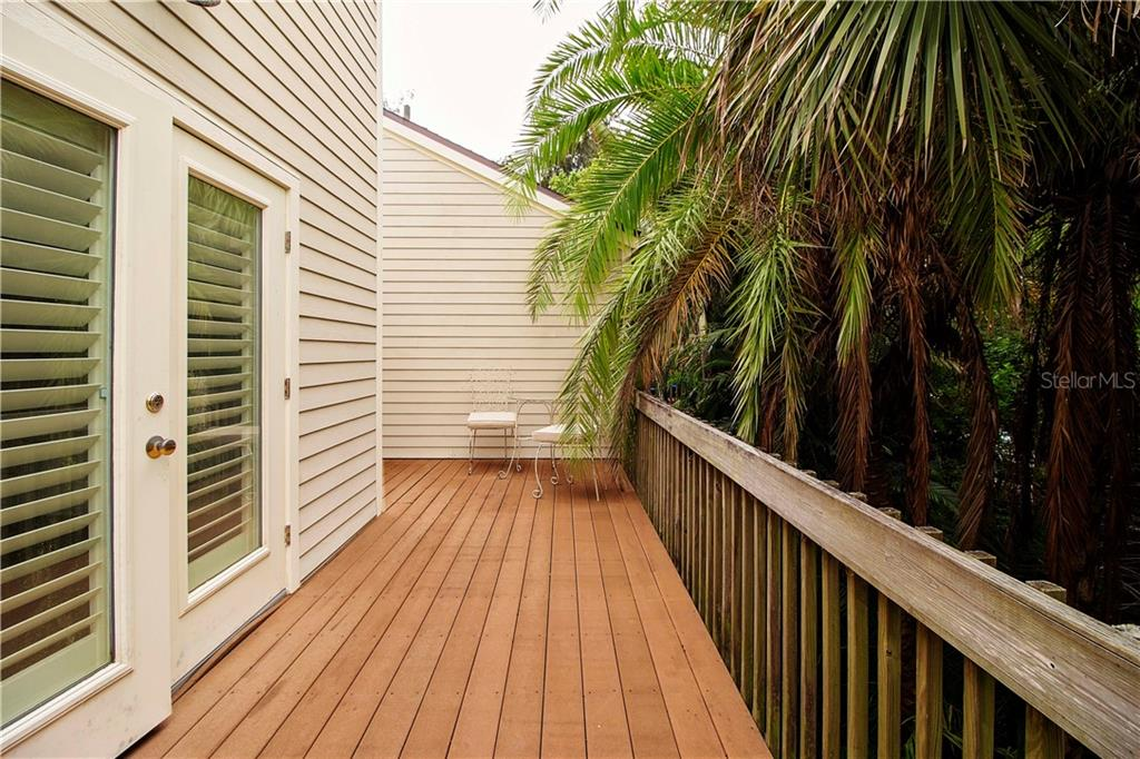 Deck off Master Suite - Single Family Home for sale at 1205 Sea Plume Way, Sarasota, FL 34242 - MLS Number is A4414083