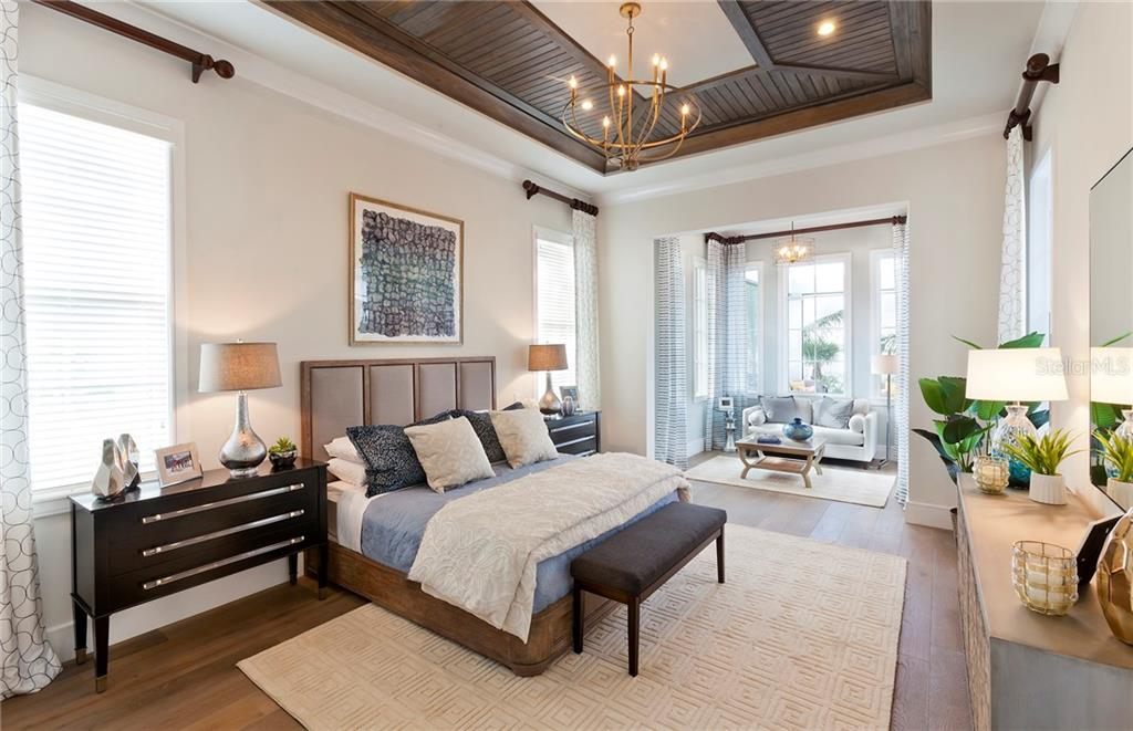 The Korina Master Bedroom with sitting area - Single Family Home for sale at 14803 Como Cir, Lakewood Ranch, FL 34202 - MLS Number is A4414881