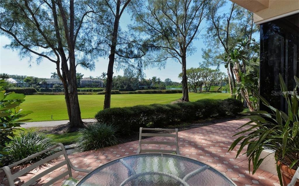 View from the terrace - Single Family Home for sale at 3529 Fair Oaks Ln, Longboat Key, FL 34228 - MLS Number is A4414992