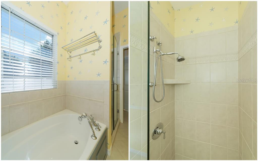 3rd Bath features separate tub & shower - Single Family Home for sale at 1714 79th Ct W, Bradenton, FL 34209 - MLS Number is A4416601