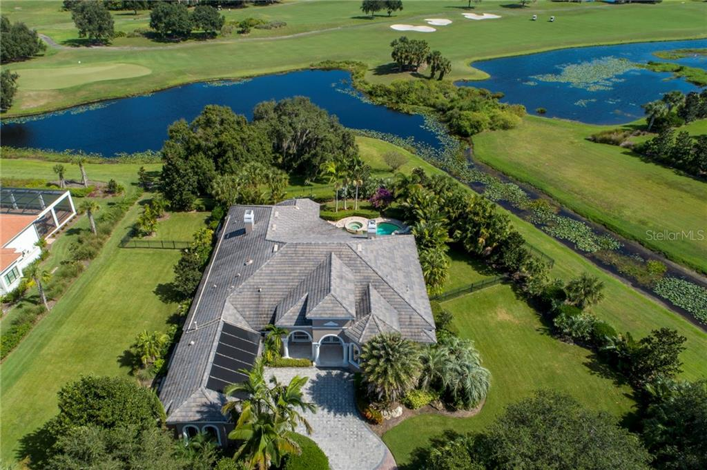 AERIAL VIEW EAST - Single Family Home for sale at 4121 Founders Club Dr, Sarasota, FL 34240 - MLS Number is A4417319