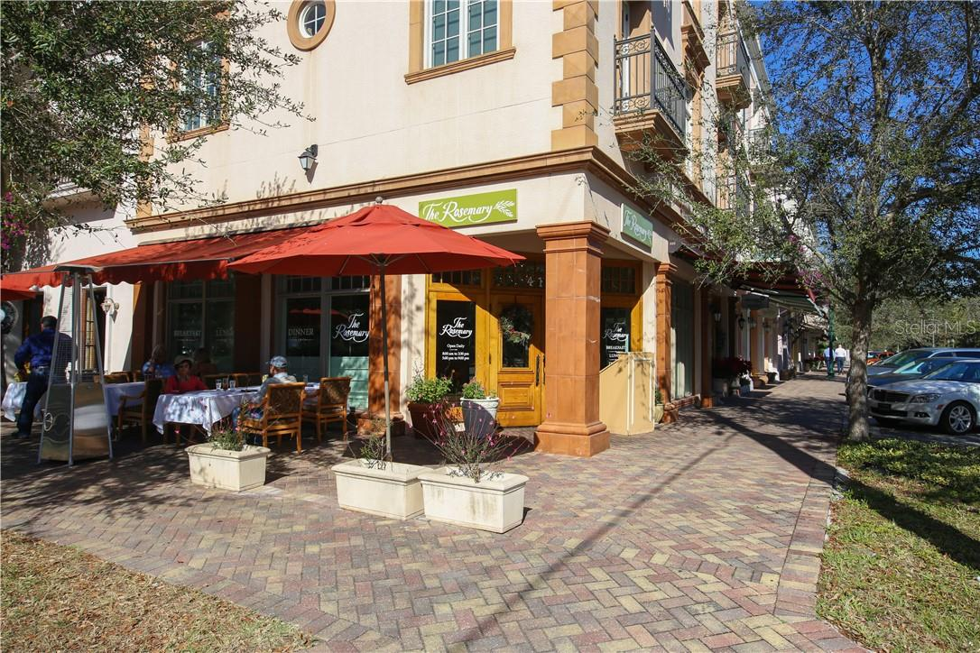 One of Citrus Square's prime dining establishments is located opposite Zahrada. It is called The Rosemary Cafe and you can enjoy dining al fresco at the corner of Orange Ave. and 4th St.  Citrus Square has other retail and dining opportunities. - Condo for sale at 1528 4th St #-, Sarasota, FL 34236 - MLS Number is A4417475