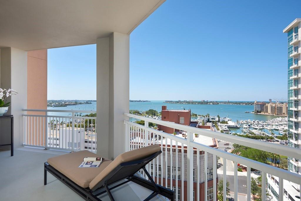Sarasota Bay and marina. - Condo for sale at 1350 Main St #1406, Sarasota, FL 34236 - MLS Number is A4418200