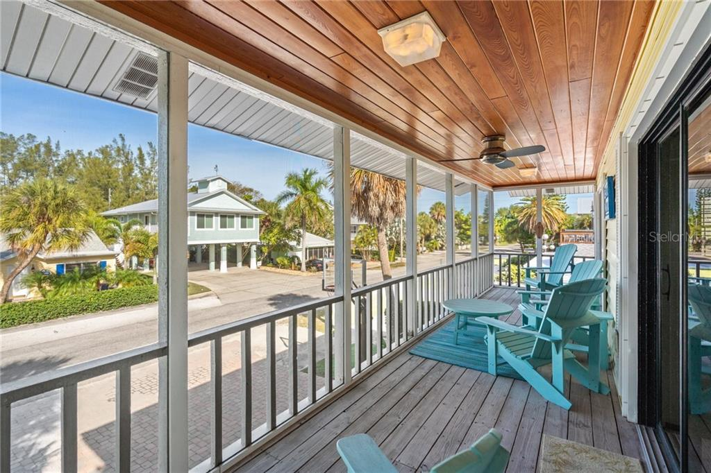 Second Floor Screened In Front Porch - Single Family Home for sale at 107 Willow Ave, Anna Maria, FL 34216 - MLS Number is A4421946