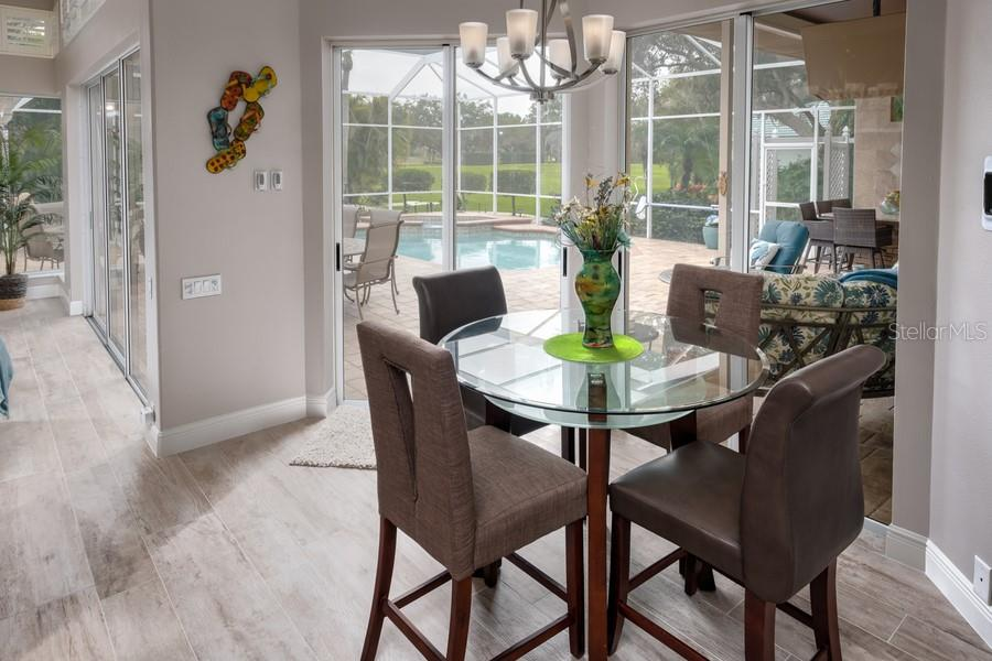 Breakfast Nook w/View of Pool - Single Family Home for sale at 7791 Alister Mackenzie Dr, Sarasota, FL 34240 - MLS Number is A4422525
