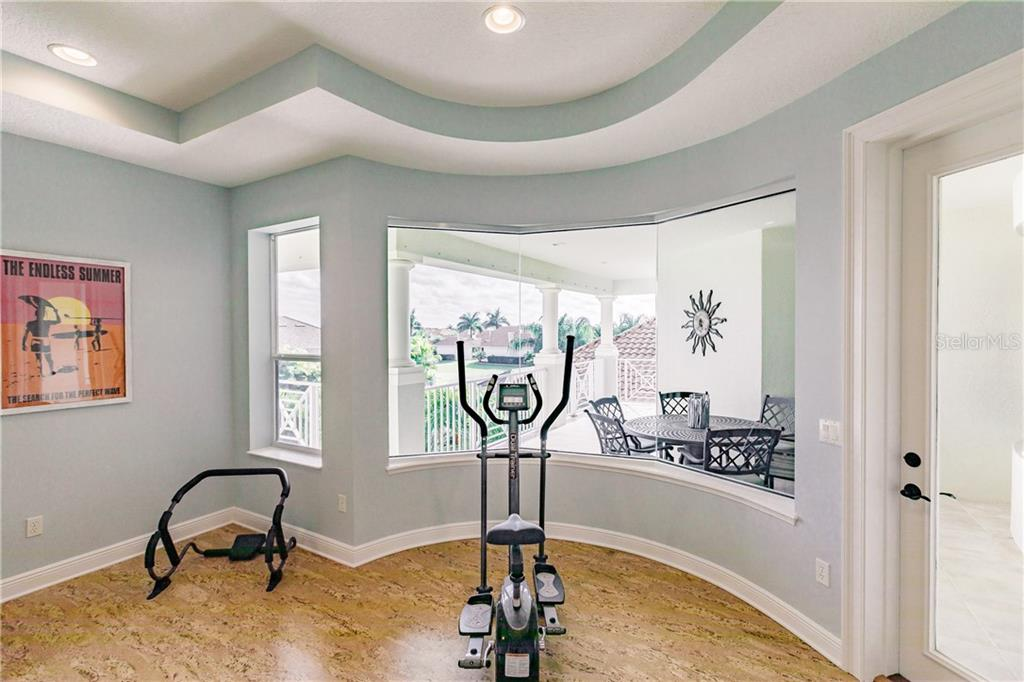 Gym and Yoga room with a spectacular view - Single Family Home for sale at 557 Fore Dr, Bradenton, FL 34208 - MLS Number is A4423161