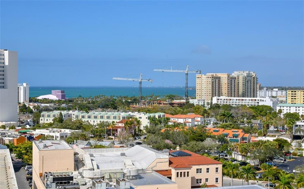 View from the dining room balcony - Condo for sale at 1350 Main St #1201, Sarasota, FL 34236 - MLS Number is A4427507