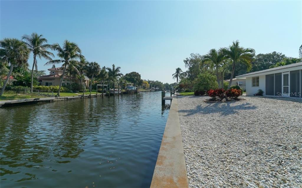 Wide Canal , Seawall and Cap re-built in 1995 - Single Family Home for sale at 935 Contento St, Sarasota, FL 34242 - MLS Number is A4431223