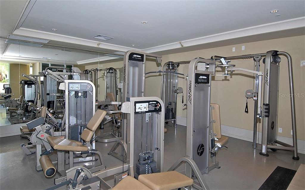 Plenty of workout equipment to choose from - Condo for sale at 1350 Main St #1500, Sarasota, FL 34236 - MLS Number is A4433444