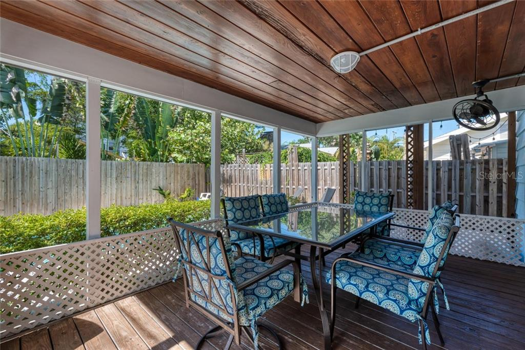 Back Porch. - Duplex/Triplex for sale at 516 Canal Rd, Sarasota, FL 34242 - MLS Number is A4446336