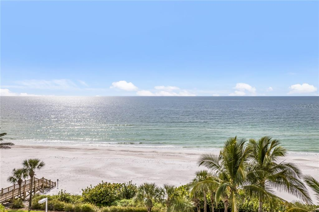 Actual view from living room terrace.  Facing west / southwest. - Condo for sale at 1800 Benjamin Franklin Dr #b506, Sarasota, FL 34236 - MLS Number is A4451047