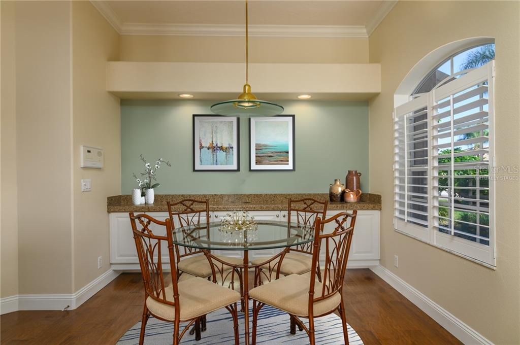 Breakfast Nook Virtually Staged - Villa for sale at 4560 Samoset Dr, Sarasota, FL 34241 - MLS Number is A4455487