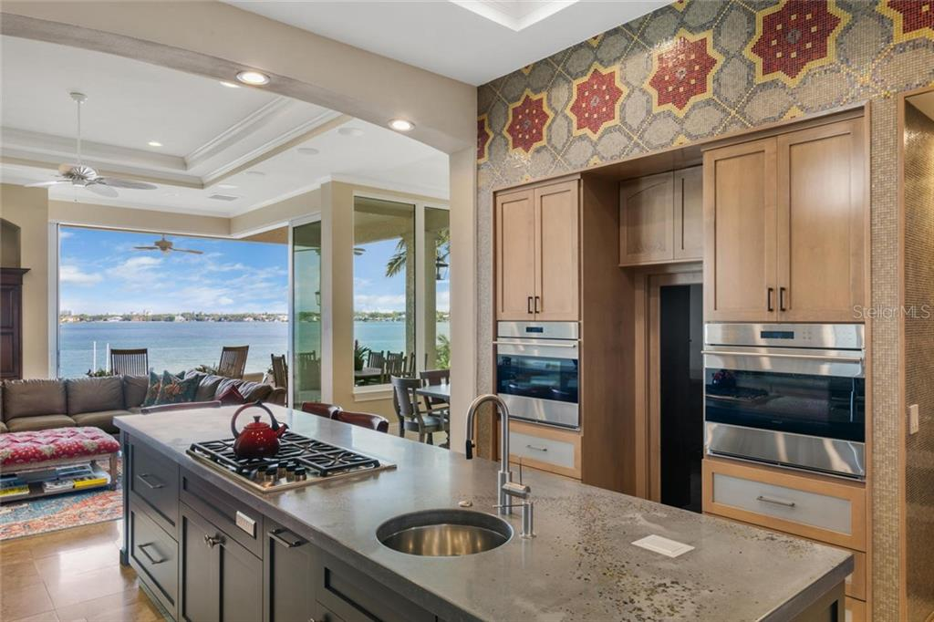 Award winning kitchen with mosaic tile backsplash and the finest appliances. - Single Family Home for sale at 901 Norsota Way, Sarasota, FL 34242 - MLS Number is A4456224